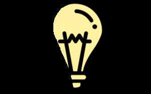 Glödlampa som illustrerar att utveckla något