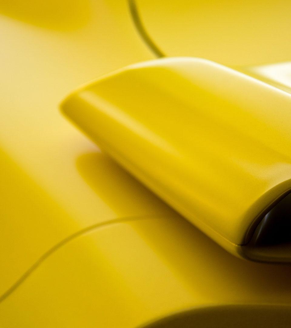 Ytor i gult material