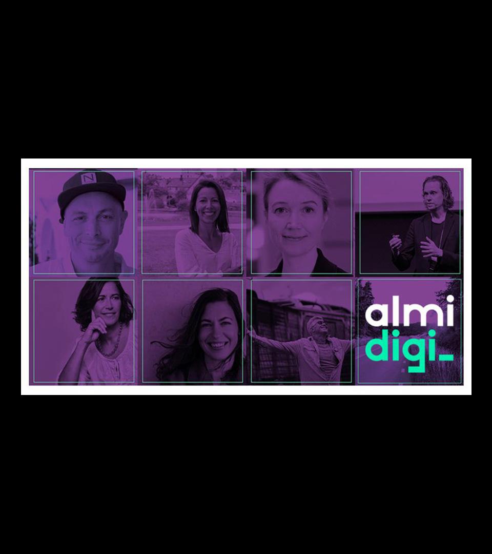 Bild på personer som är med i Almis event